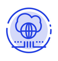 world marketing network cloud blue dotted line vector image