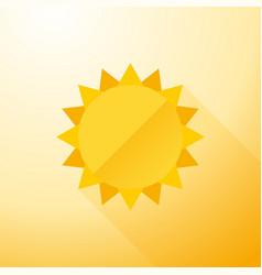 yellow symbol sun with long shadows vector image