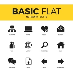 Basic set of Network icons vector image