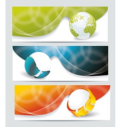 Collection banner design with glass balls and vector image vector image