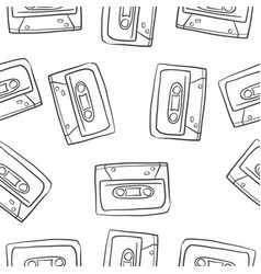 doodle musical instrument theme collection vector image