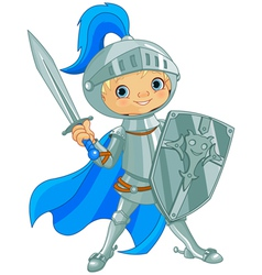 Fighting Brave Knight vector image vector image