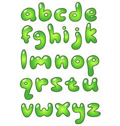 lower case eco bubble alphabet vector image