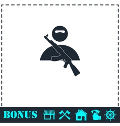 Raider icon flat vector image vector image