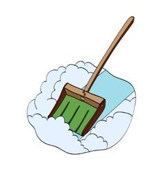 Snow shovel hand drawn vector image