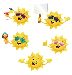 Sun Character Set vector image