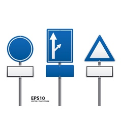 traffic sign blue color vector image vector image