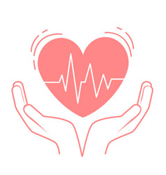 concept of treatment heart vector image
