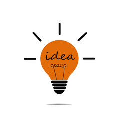crative idea in bulb shape as inspiration concept vector image