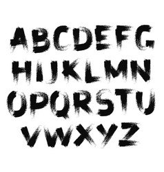 fat font painted brush strokes texture vector image