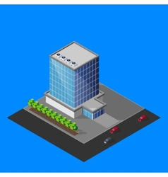 isometric business center building vector image vector image