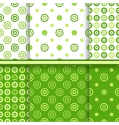 Set of dot seamless patterns vector image vector image