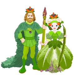 Vegetable the Royal Couple vector image vector image