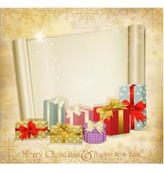 vintage holiday invitation vector image vector image