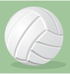 volleyball white ball realistic vector image vector image