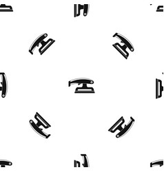 fret saw pattern seamless black vector image vector image