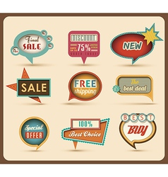 Retro speech bubbles vector image vector image