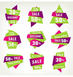 set stickers labels and banners vector image