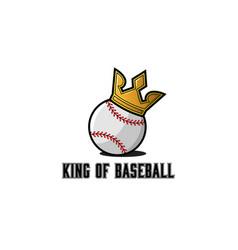 baseball ball emblem sport sticker or t-shirt vector image