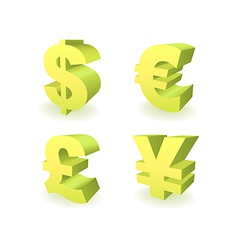 Currencies Symbols vector image vector image