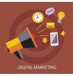 Digital Marketing Concept Art vector image vector image