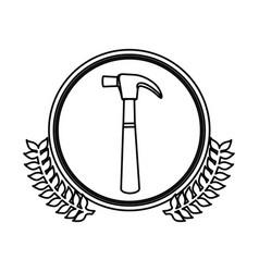 figure symbol hammer icon stock vector image vector image