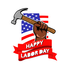 labor day greeting badge vector image vector image