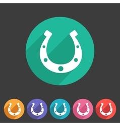 Luck horseshoe icon flat web sign symbol logo vector image vector image