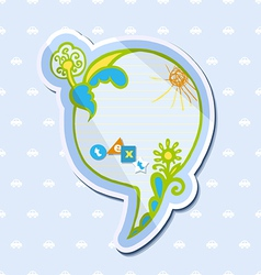 Speech bubble childrens drawings vector image vector image