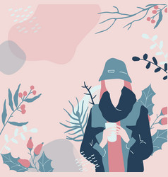Abstract cozy winter clipart fashion vector