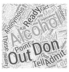 Alcoholics anonymous Word Cloud Concept vector