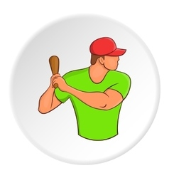 Baseball player icon cartoon style vector image