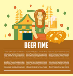 Beer letterhead template vector