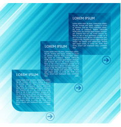 Blue template for web vector
