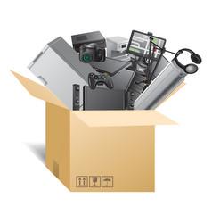 box 10 vector image