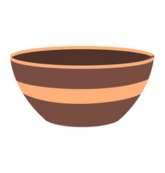 Ceramic or earthenware bowl to hold food and soups vector