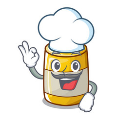 Chef character bottle style mustard sauce yummy vector