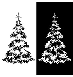 christmas fir tree pictograms vector image