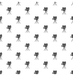 Cinema camera pattern simple style vector image