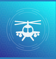 combat helicopter icon pictograph vector image