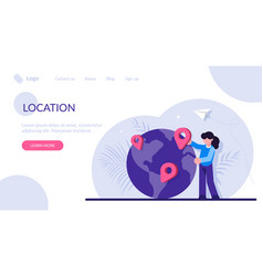 concept geographic location world navigation vector image