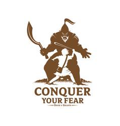 Conquer your fear monochrome version vector