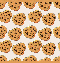 cookies pattern vector image
