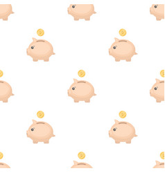 Donation piggybank icon in cartoon style isolated vector