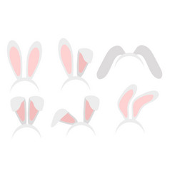 easter bunny ears mask hand draw vector image