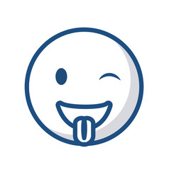 emoticon face icon vector image