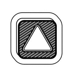 Empty square icon vector