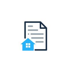 Estate document logo icon design vector