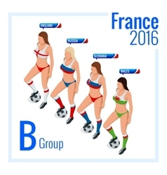 European football championship in France Group B vector image