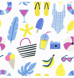 fashion set of woman s summer clothes vector image